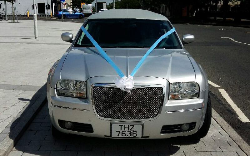 Book our silver limousine for your wedding day