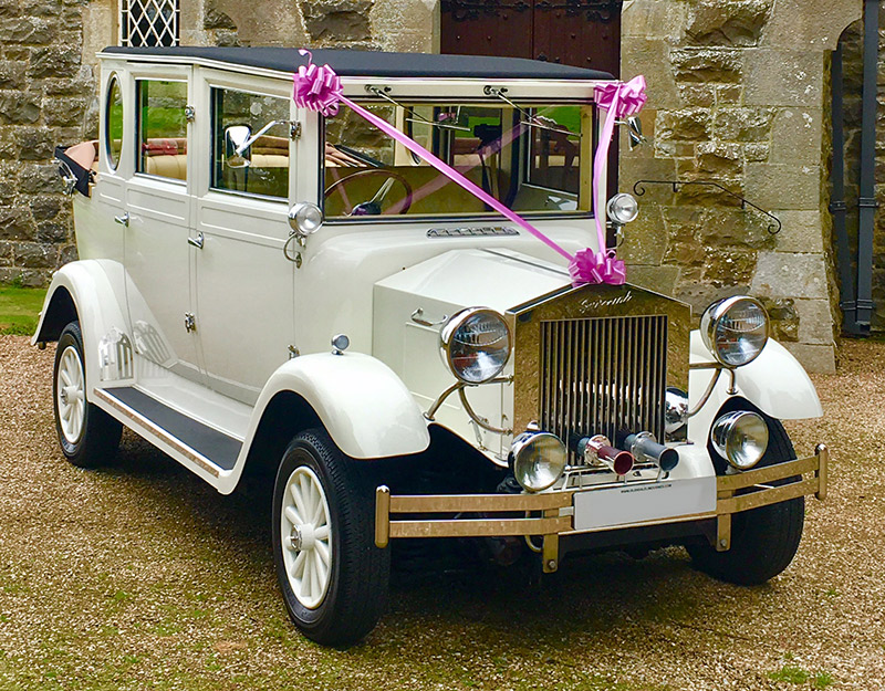 Imperial regent wedding car in ayrshire.