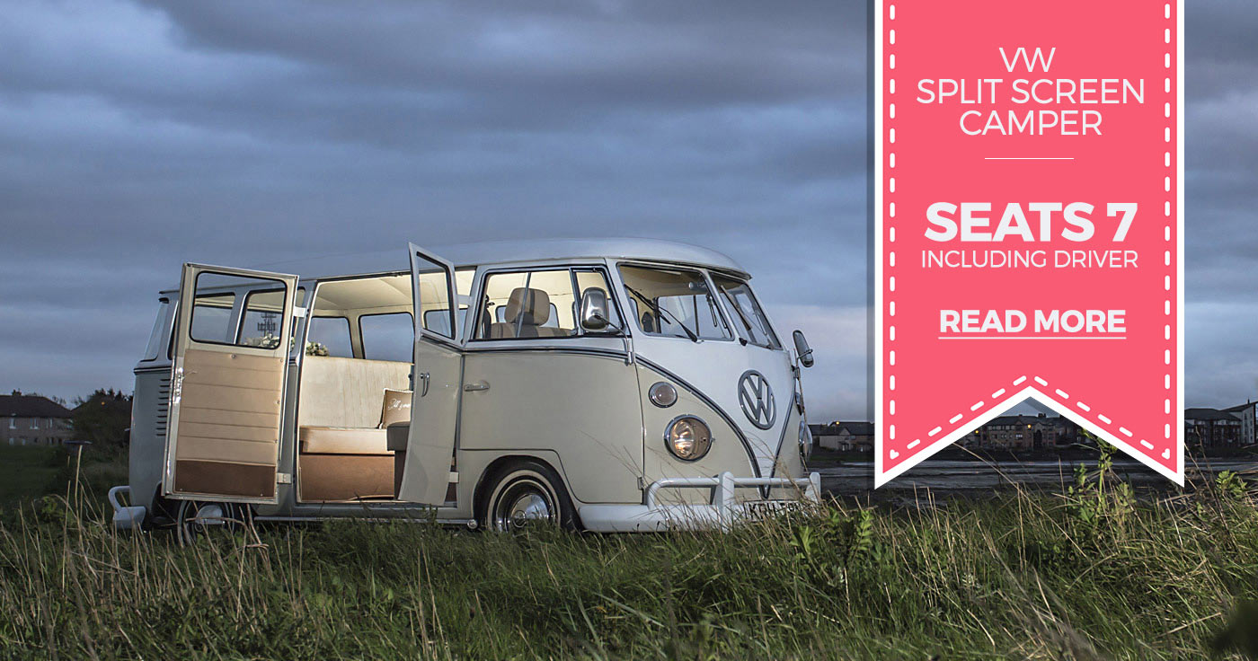 Vintage VW Splitscreen Camper hire in Ayrshire, Scotland