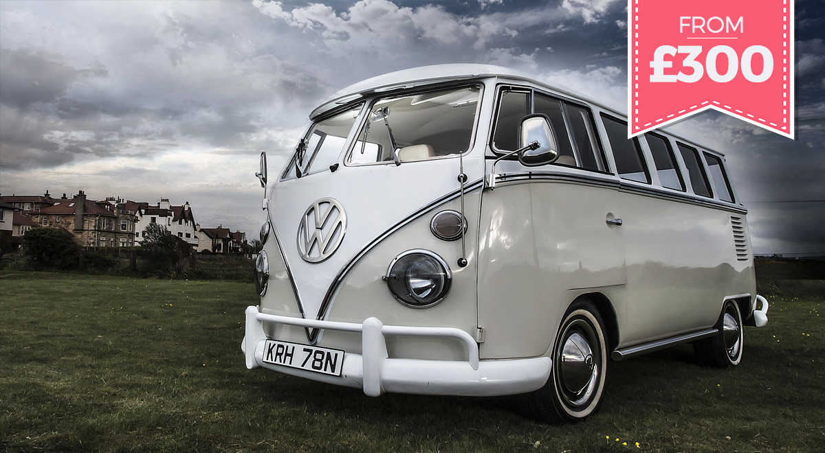 VW Vintage Camper - Splitscreen camper for weddings in Ayr and Glasgow