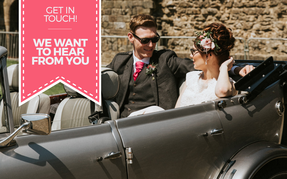 Contact Ayrshire Wedding cars - we want to discuss your dream wedding