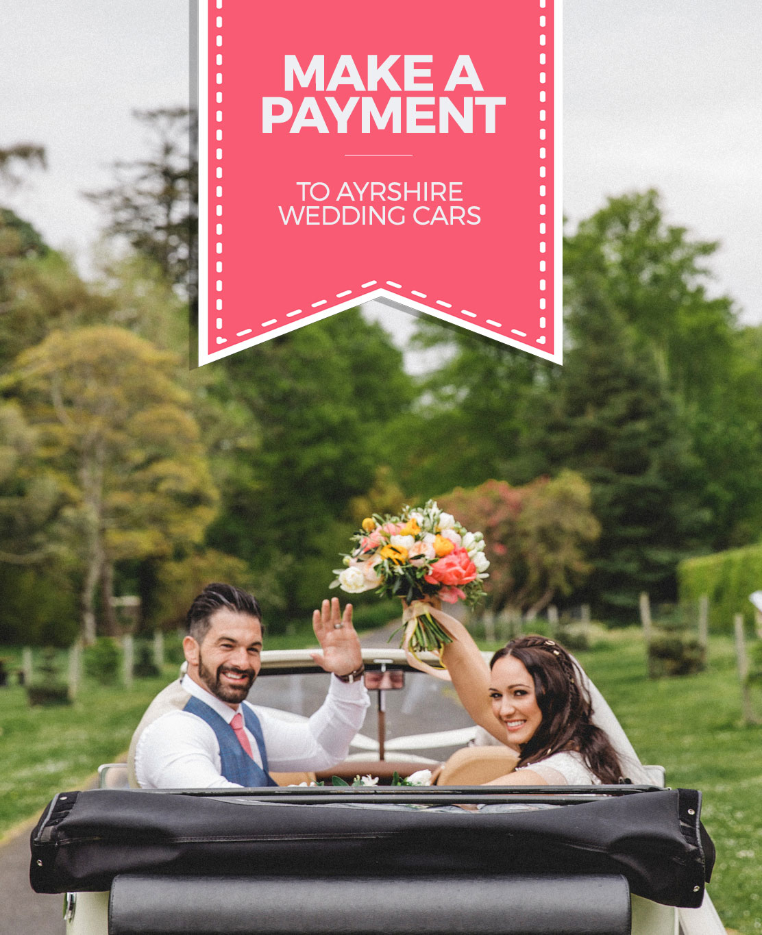 make a payment to ayrshire wedding cars