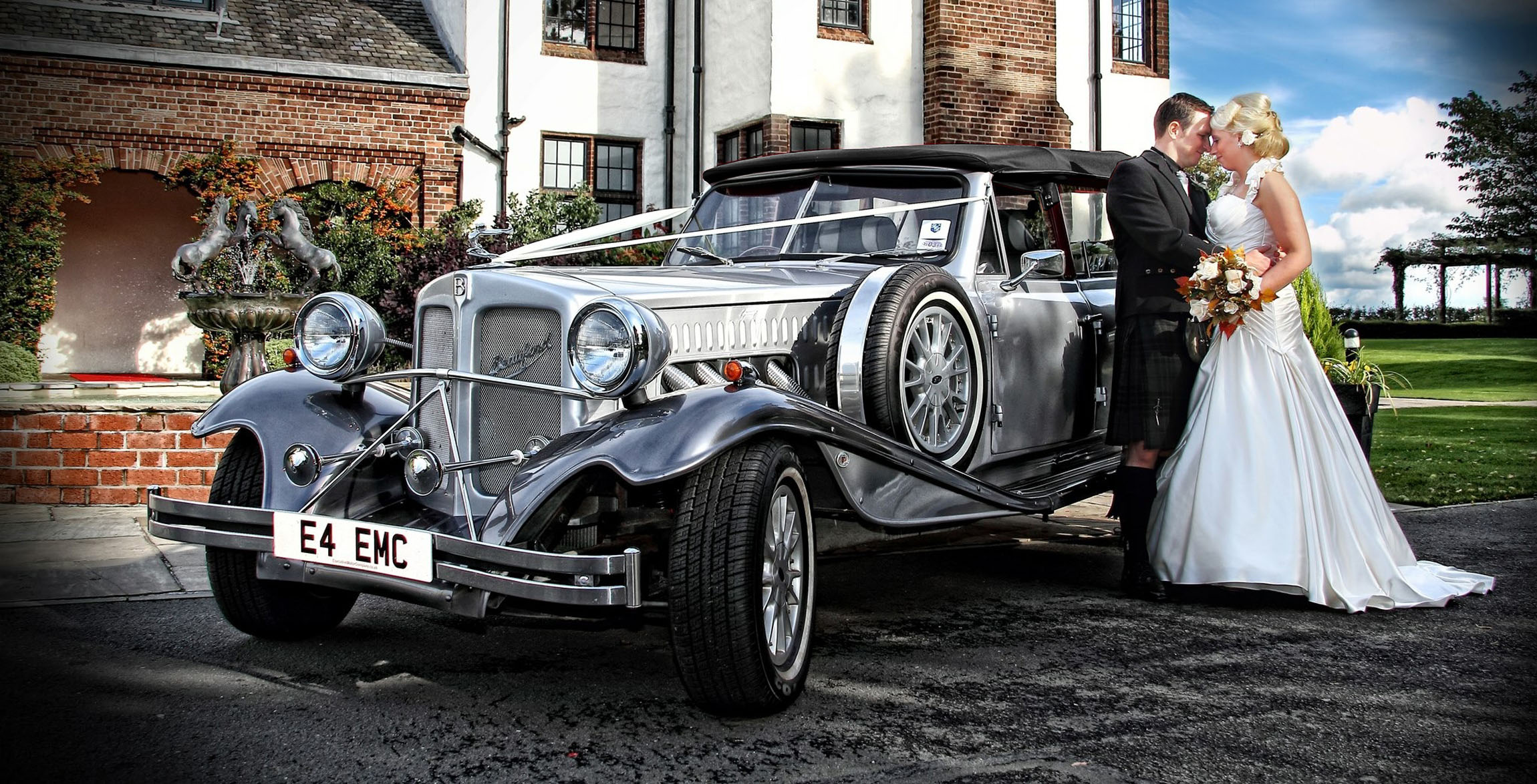 silver beauford bridal car ayrshire