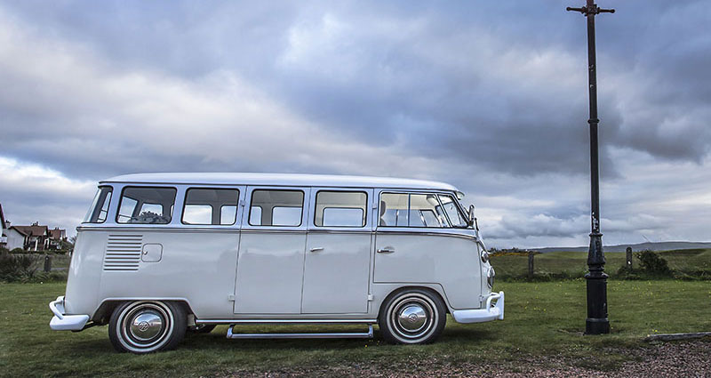 Wedding car hire in Ayr - VW Camper