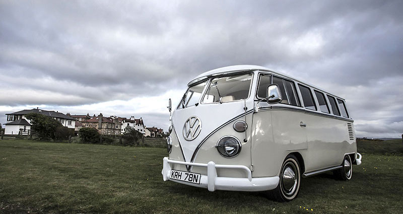 Splitscreen vw camper for weddings in ayrshire