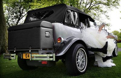 Silver Beauford bridal cars ayrshire